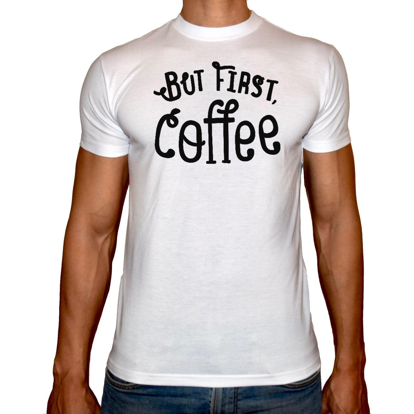 Phoenix WHITE Round Neck Printed T-Shirt Men (Coffee)