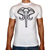 Phoenix WHITE Round Neck Printed T-Shirt Men (Elephant)