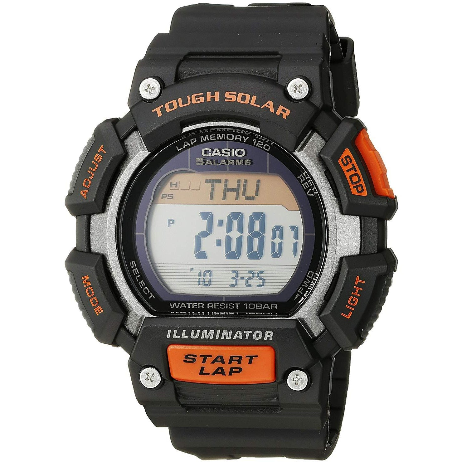 Casio Men's STL-S110H-1ACF  Digital Black and Orange Watch