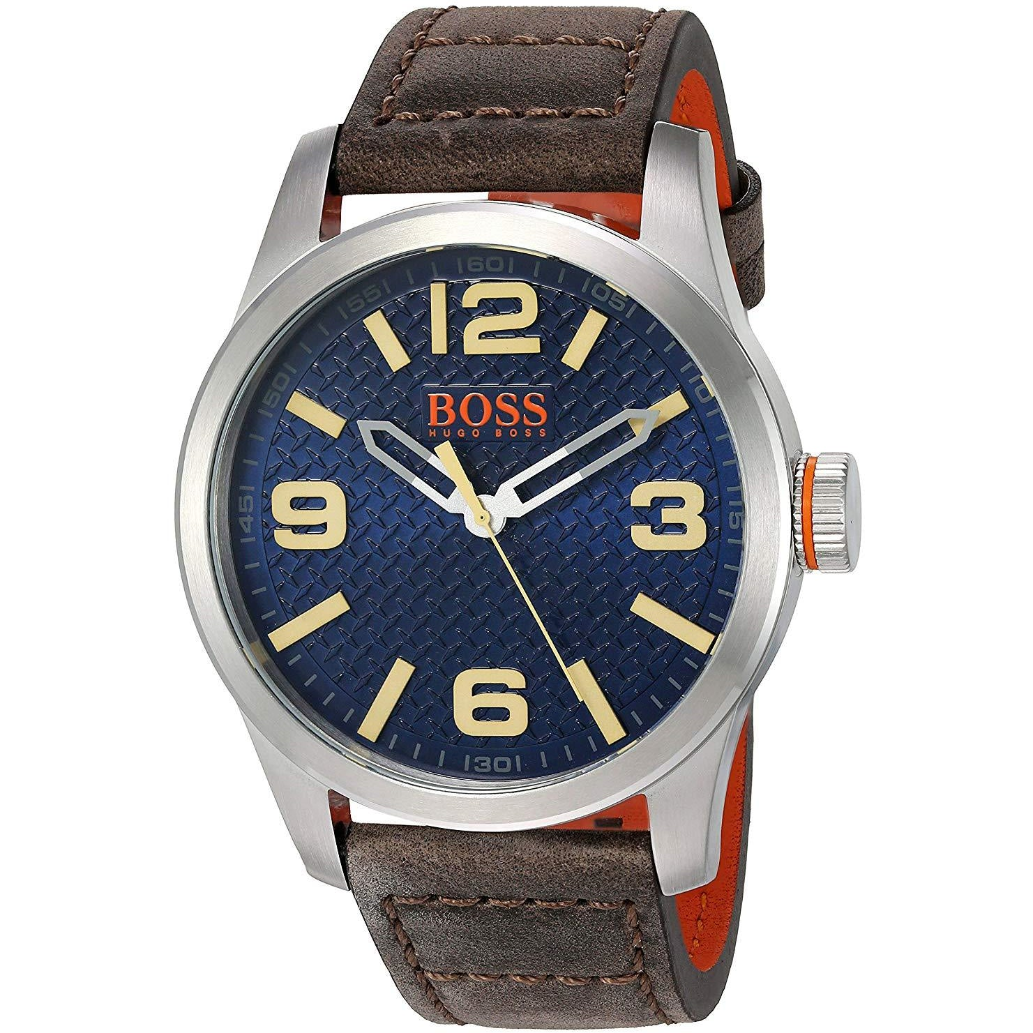 BOSS Orange Men's 'PARIS' Quartz Stainless Steel and Beige Leather Casual Watch Model 1513352