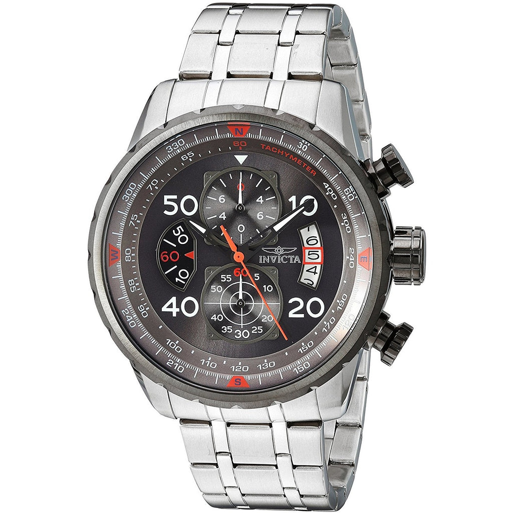 Invicta Men's 17204 AVIATOR Stainless Steel Casual Watch, Invicta - 3alababak