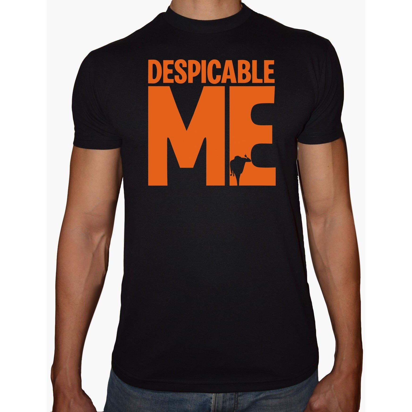 Phoenix BLACK Round Neck Printed T-Shirt Men (Despicable)