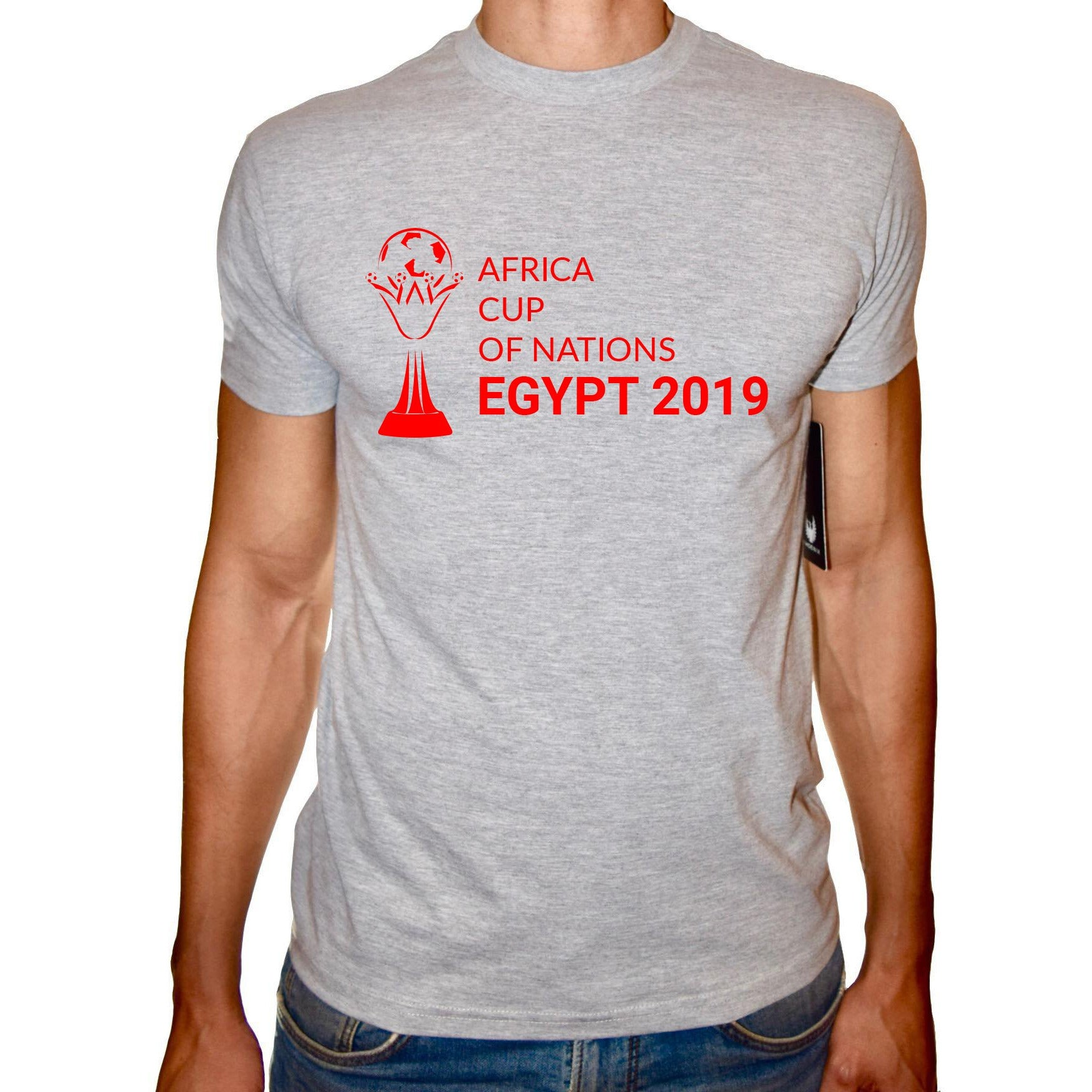 Phoenix GREY Round Neck Printed T-Shirt Men ( CAF Cup - 2019 )