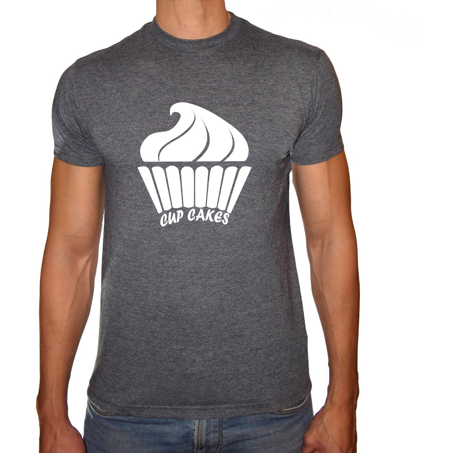 Phoenix CHARCOAL Round Neck Printed T-Shirt Men(cupcakes)