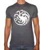 Phoenix CHARCOAL Round Neck Printed T-Shirt Men (Game of thrones - DRAGONS)