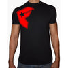 Phoenix BLACK Round Neck Printed T-Shirt Men(F star)