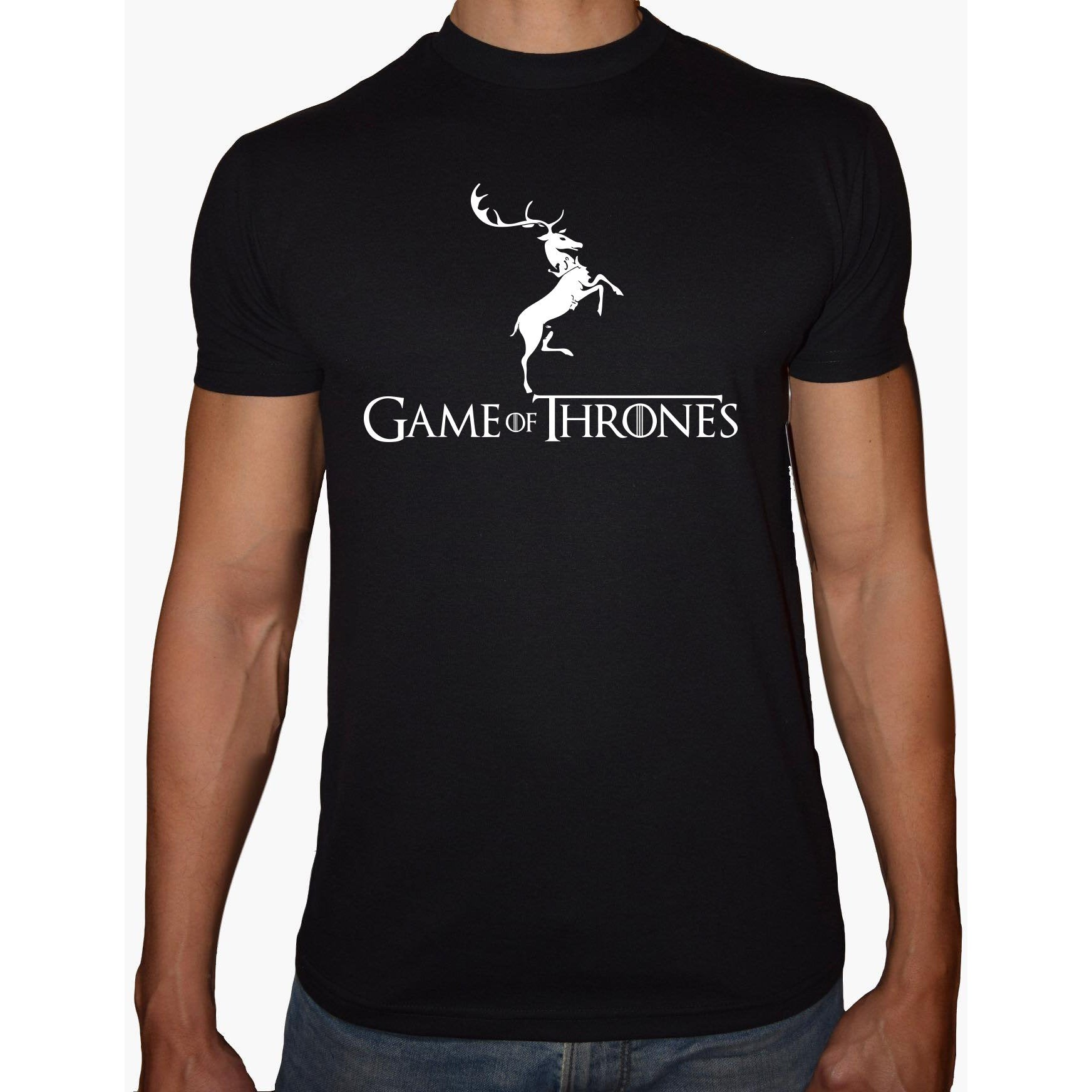 Phoenix BLACK Round Neck Printed T-Shirt Men (Game of thrones)