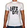 Phoenix WHITE Round Neck Printed T-Shirt Men(Let's Go)