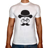 Phoenix WHITE Round Neck Printed T-Shirt Men(Man hat)
