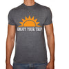 Phoenix CHARCOAL Round Neck Printed T-Shirt Men(Sun )