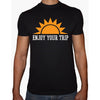 Phoenix BLACK Round Neck Printed T-Shirt Men(Sun )