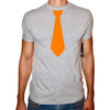 Phoenix GREY Round Neck Printed T-Shirt Men(Tie)