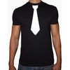 Phoenix BLACK Round Neck Printed T-Shirt Men(Tie)