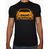 Phoenix BLACK Round Neck Printed T-Shirt Men(car)