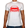 Phoenix WHITE Round Neck Printed T-Shirt Men(car)