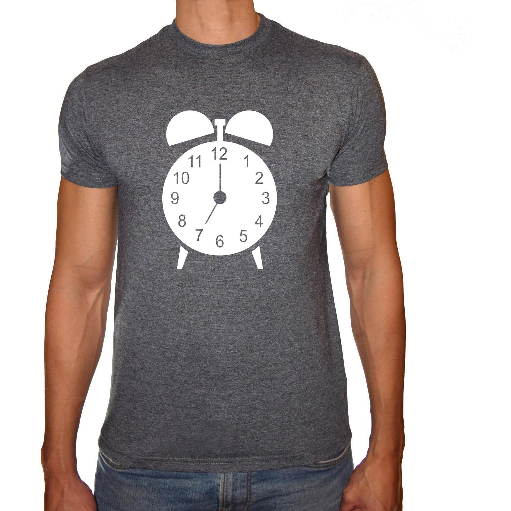 Phoenix CHARCOAL Round Neck Printed T-Shirt Men(clock)