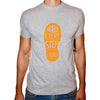 Phoenix GREY Round Neck Printed T-Shirt Men(foot print)