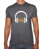 Phoenix CHARCOAL Round Neck Printed T-Shirt Men(head phones)