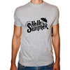 Phoenix GREY Round Neck Printed T-Shirt Men(hello summer)