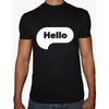 Phoenix BLACK Round Neck Printed T-Shirt Men(hello)