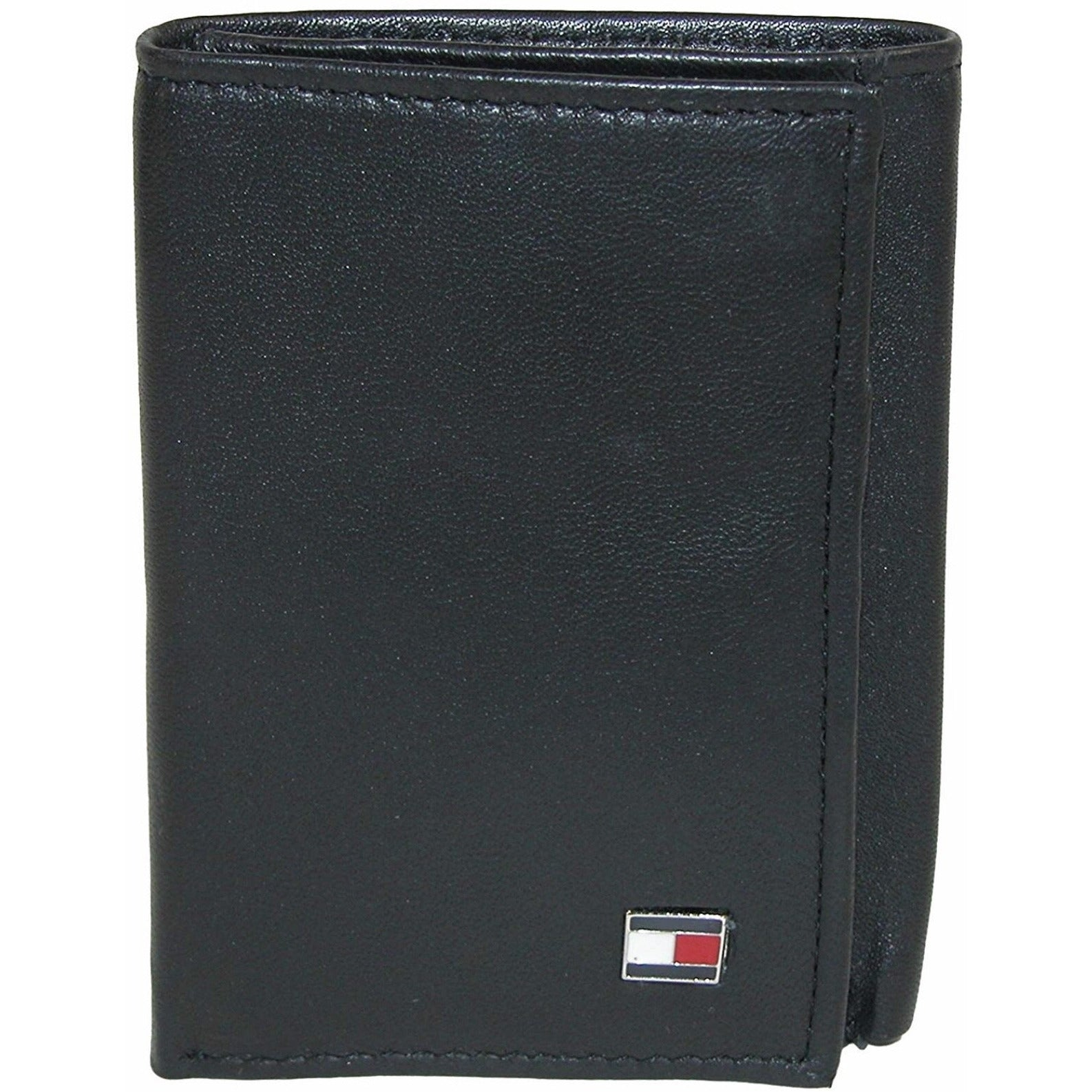 Tommy Hilfiger 31TL11X018 001 Men's Leather Trifold Wallet Oxford Black