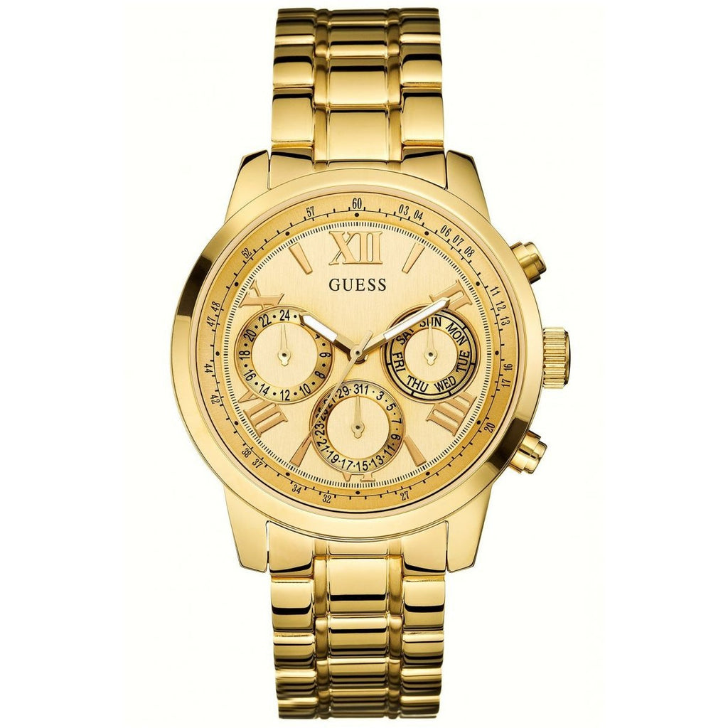 Guess Women's Gold Dial Stainless Steel Band Watch - U0330L1