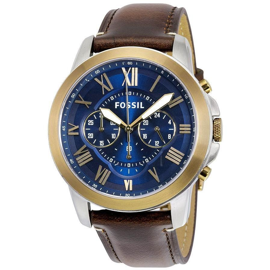 FOSSIL - Grant Chronograph Blue Dial Men's Watch - FS5150