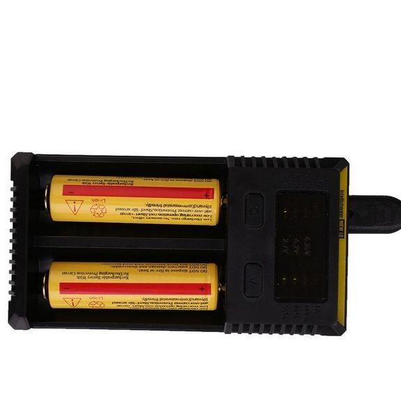 NITECORE Battery Charger for 16340/10440 AA AAA 14500/18650/26650 Battery Charger I2 Charger