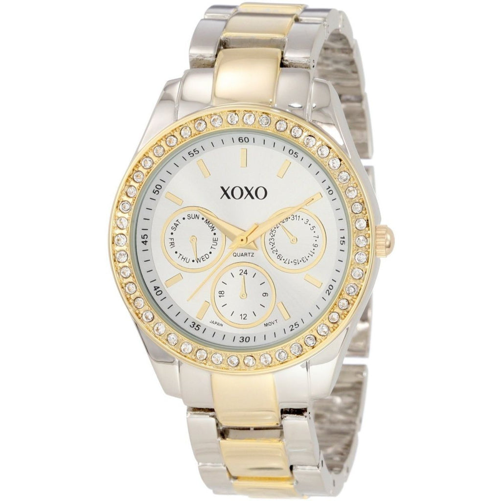 XOXO women gold and silver watch XO5429 - 3alababak