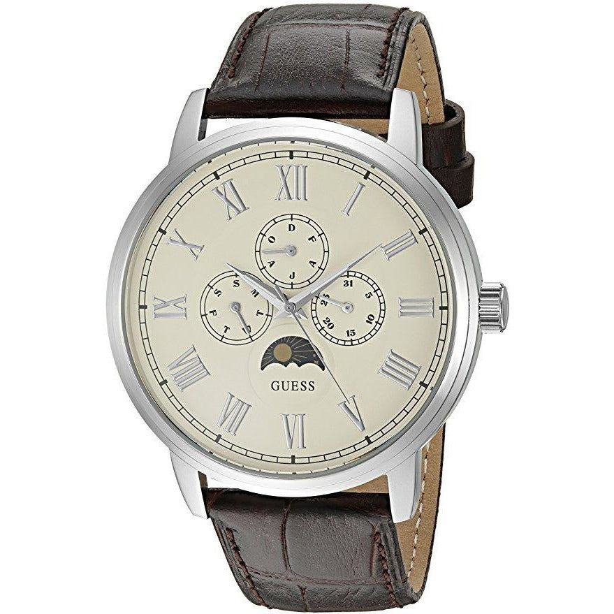 Guess Dress Watch For Men Analog Leather - U0870G1