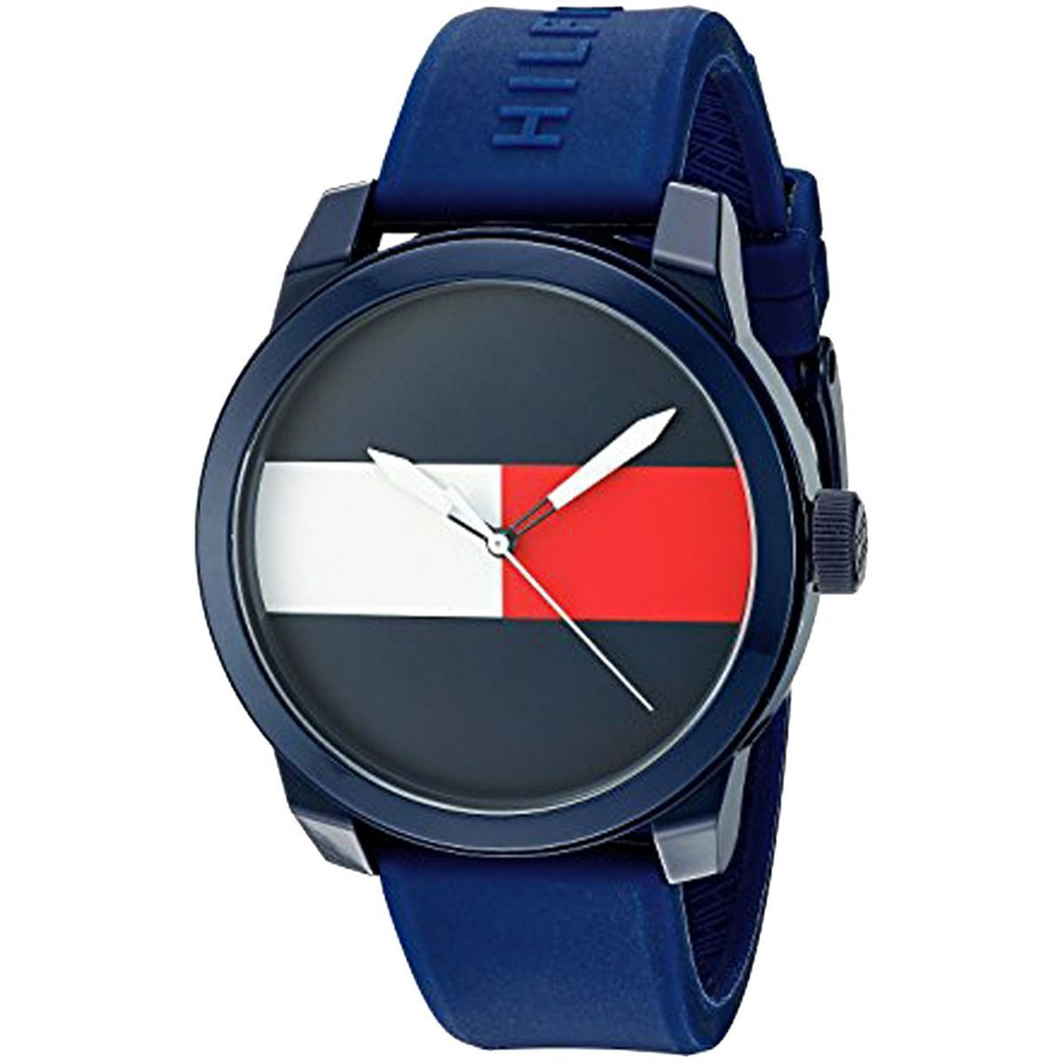 Tommy Hilfiger 1791322 Men's Blue Dial Rubber Band Watch