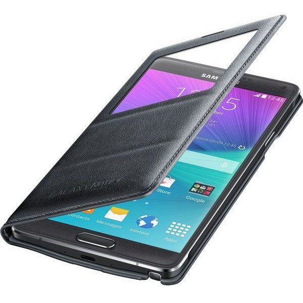 Samsung Galaxy Note 4 S View Flip Cover - Charcoal Black