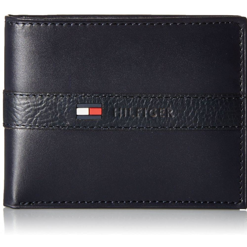 Tommy Hilfiger Ranger Navy Leather For Men Bifold Wallets