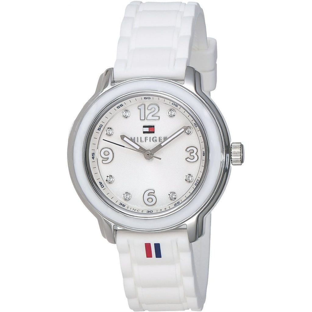 Tommy Hilfiger Callie Women's Silver Dial Silicone Band Watch - 1781418 - 3alababak