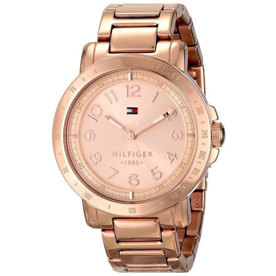 Tommy Hilfiger Women 1781396 Analog Display Quartz Rose Gold Watch - 3alababak