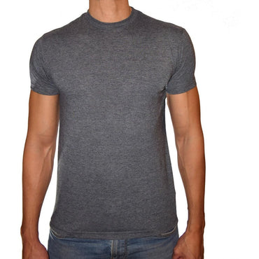 PHOENIX Basic Charcoal Round Neck T-Shirt For Men