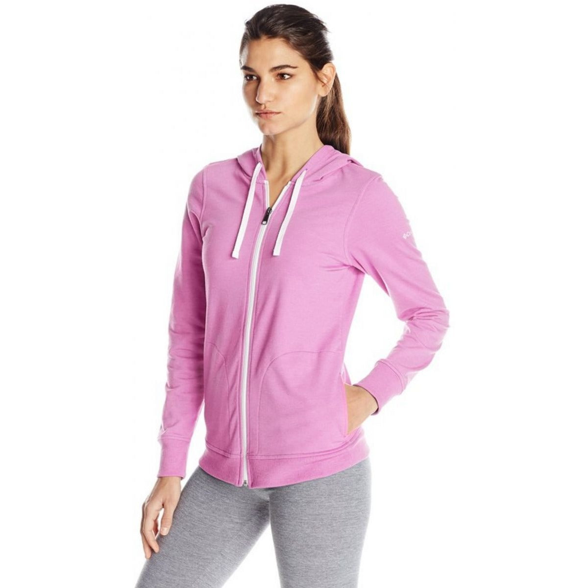 Columbia Women My Terry Tory Full Zip Hoodie, Orchid, Medium