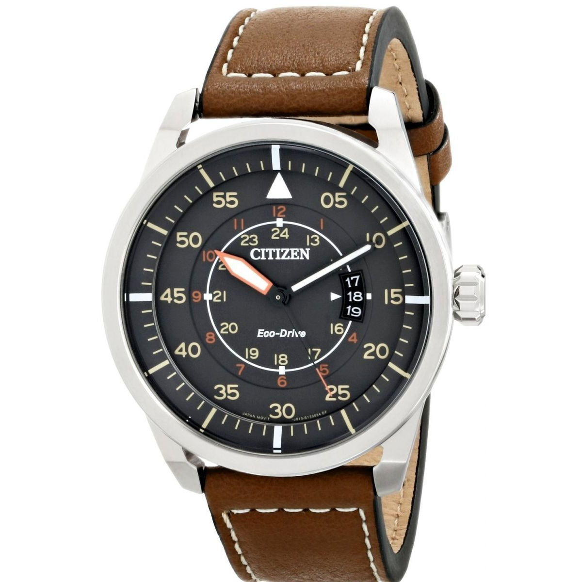 Citizen Avion AW1361-10H Analog Leather Band Watch for Men