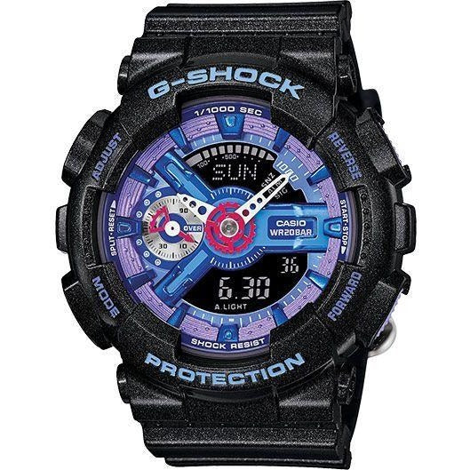Casio G-Shock Women's Blue Ana-Digi Dial Resin Band Watch - GMAS110HC-1