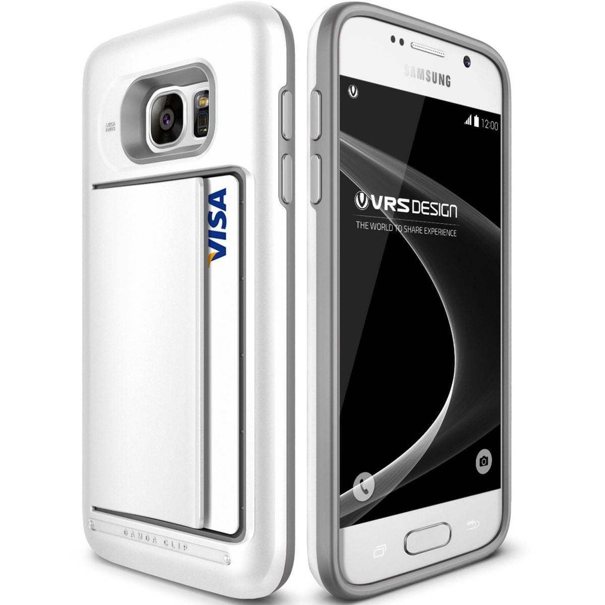 Verus Galaxy S7 Design Damda Clip - White Mobile cover Cover