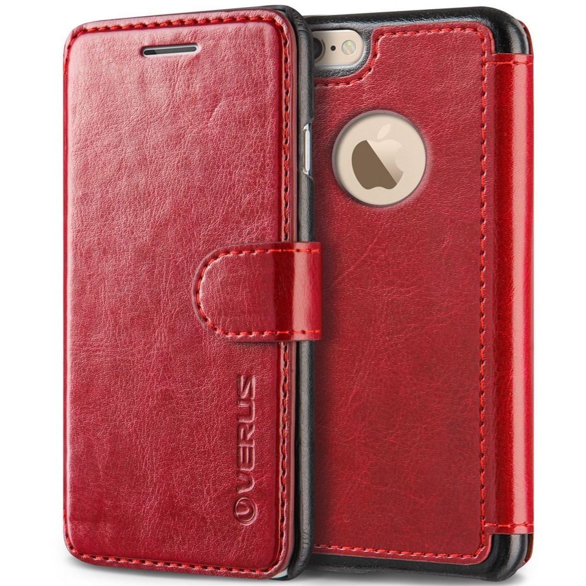 Verus iPhone 6S Mobile cover, Verus Layered Dandy Red Card Slot Flip Slim Fit