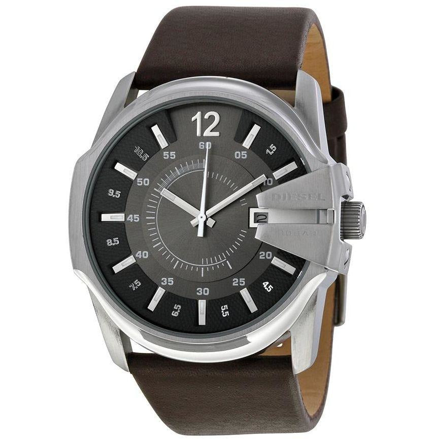 Diesel Brown Leather Black dial Watch for Men DZ1206