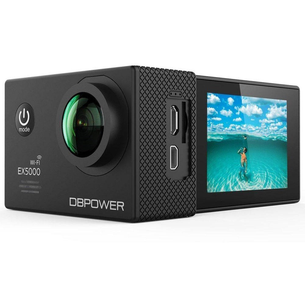 DBPOWER Action Cameras 1080P Resolution , 1x Optical Zoom and 2 Inch Screen Size Camcorder - EX5000