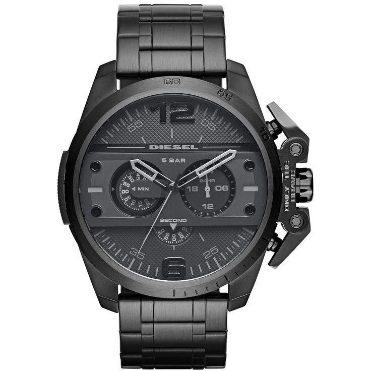 DIESEL Ironside Chronograph Stainless Steel Watch Black DZ4362