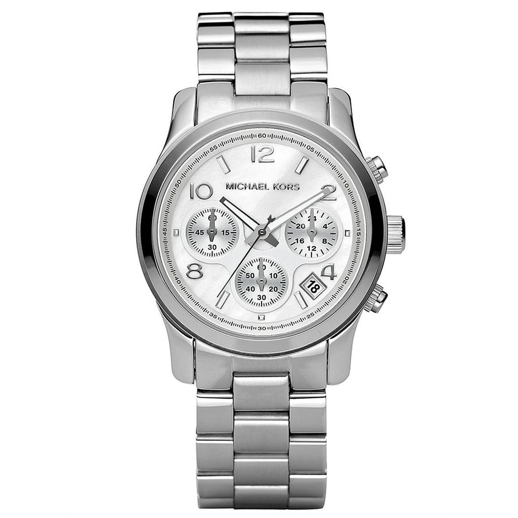 Michael Kors Midsized Watch for Women - Analog Stainless Steel Band - MK5076