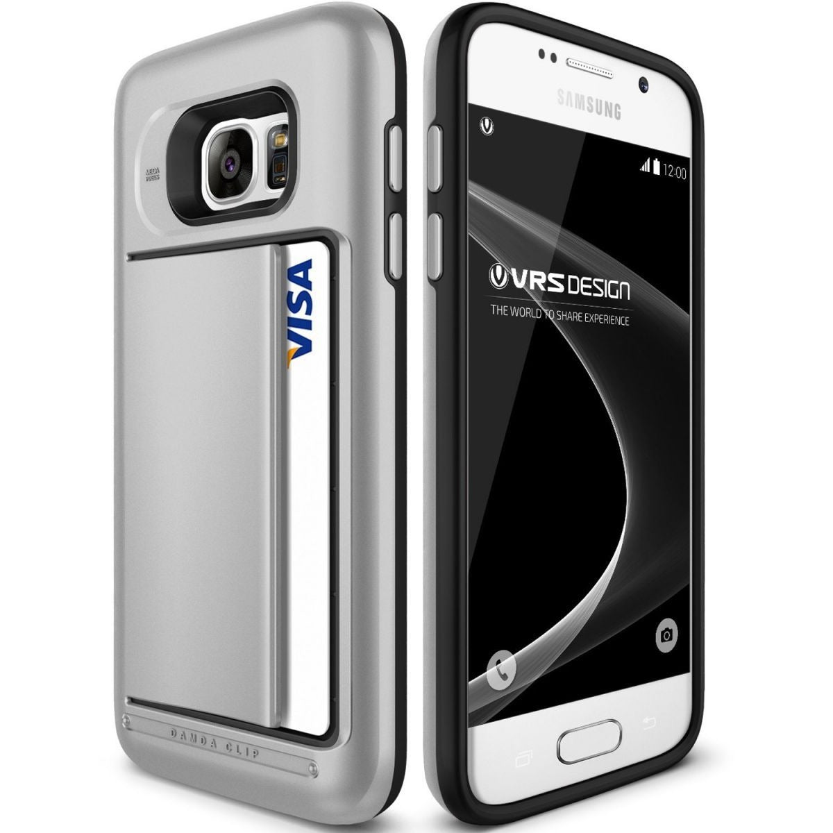 VRS Design [Damda Clip][Satin Silver], Galaxy S7 Mobile Cover