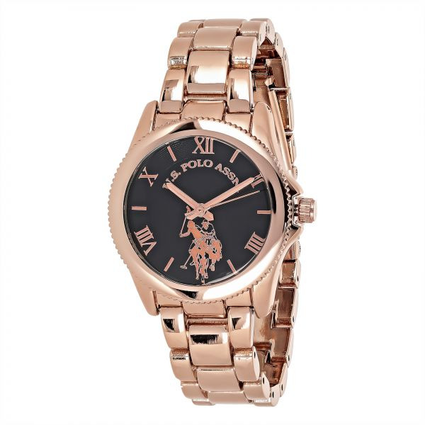 U.S. Polo Assn. Women's USC40135 Gold Tone Metal Analog-Quartz Watch