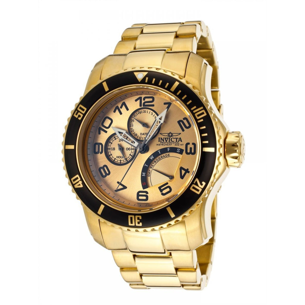 Invicta Pro Diver Men's Gold Dial Stainless Steel Band Watch [INVICTA-15343] - 3alababak