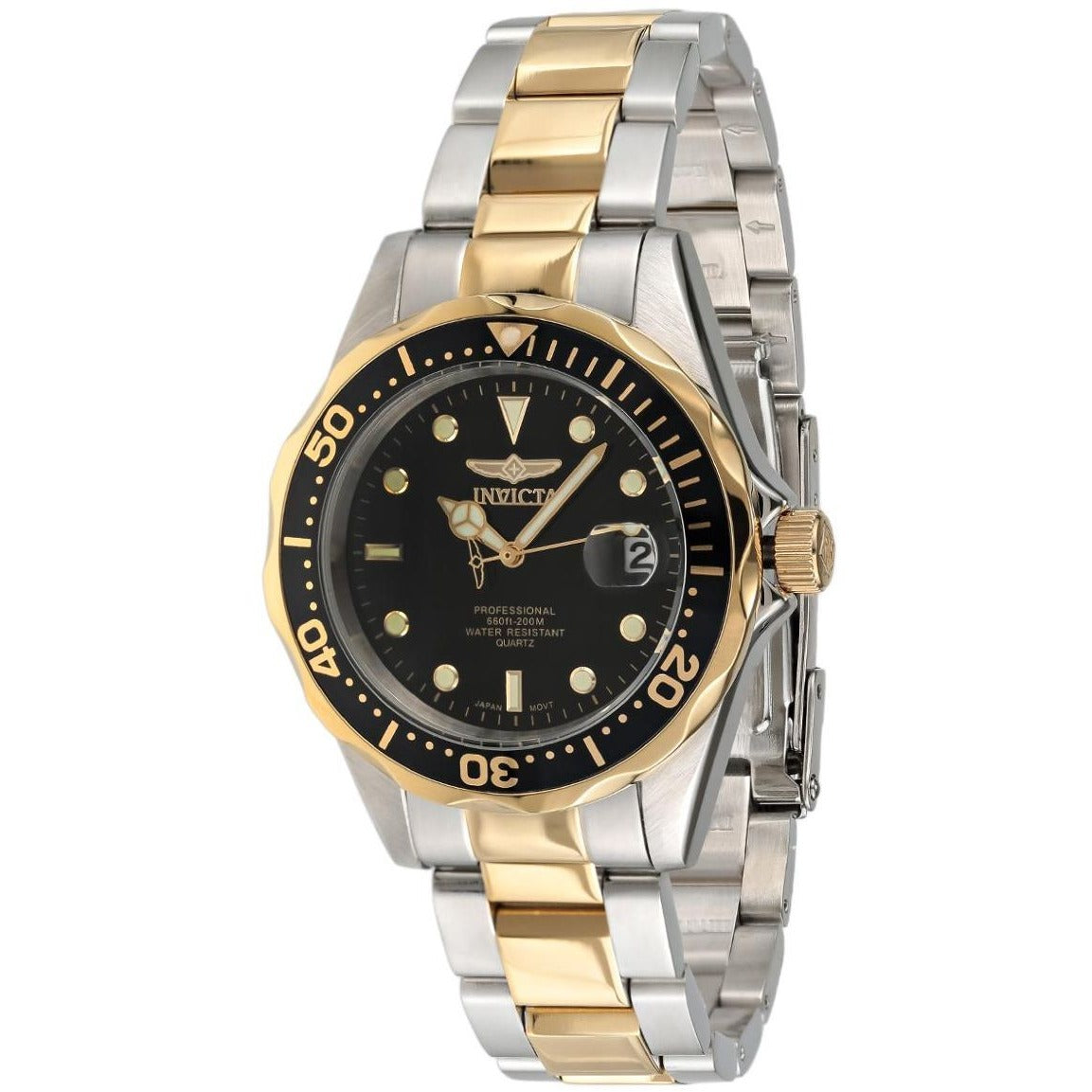 Invicta 8934 Pro Diver Men's Black Dial Stainless Steel Band Watch