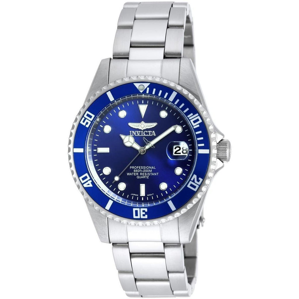 Invicta 9204OB Gent Pro Diver Steel Bracelet Blue Dial Watch - 3alababak